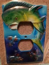 Rivers Edge Colorful Fish Duplex Receptacle Cover New in package