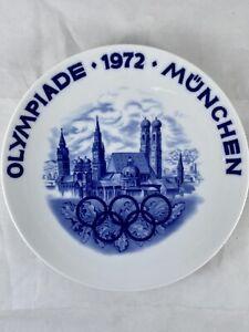 """Olympiade 1972 Munchen, Munich Olympics Souvenir Plate, 8"""" D12"""