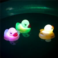 4PCS/Set Glow Baby Bath Toys LED Light Up Colorful Floating Duck Kids Shower Toy