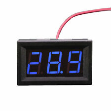 Mini LED DC Voltmeter Voltage Tester 3-Digital Display Volt Panel Meter 12V 24V