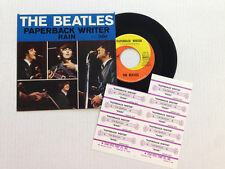 THE BEATLES-PAPERBACK WRITER-Capitol 5651-PS 7.5  VINYL 4.5 with TITLE STRIPS