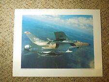 Vintage Lithograph US Air Force Photo AF Reserve F-105 Thunderchief Ken Hackman