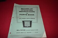 Oliver Tractor STH Spring Tooth Harrow Operator's Manual BVPA
