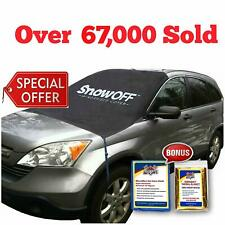SnowOFF Car Windshield Snow Ice Cover - Sun Shade Protector - WINDPROOF Straps..