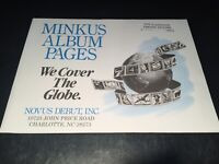 New Minkus United States Commemoratives Stamp Album Supplement Pages- 1995