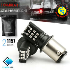 1157 Red Flash Strobe Brake Tail/Parking 24-LED Light Bulbs Flash Blinker Alert