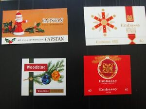 FOUR WILL'S CIGARETTE CHRISTMAS  PACKET WRAPPERS