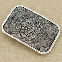 1Pc Antique Silver Maya Style Belt Buckle For Mens Accessories Jeans Biker