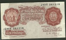 Bank of england currency note 10 shillings great britain paper money 368c ten
