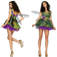 Halloween Women Fairy Forest Elf Costume Fancy Dress Hens Party Disney Outfit