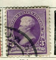 USA; 1890 early Presidential series issue used 3c. value