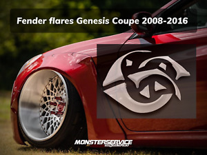 "Fender flares ""Monsterservice"" V2 for Hyundai Genesis Coupe 2009-2015"
