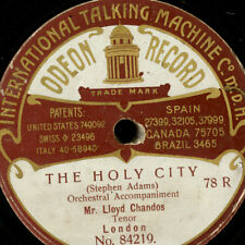 LLOYD CHANDOS -Tenor-  The holy city / The star of Bethlehem     78rpm    G2665