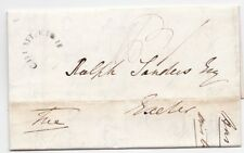 * 1840 MAY 19 CHUMLEIGH CIRC MILEAGE ERASED DEVON PART LETTER P F CLAY > EXETER