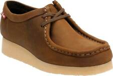 Clarks Women's Padmora Brown Smooth Leather Wallabee Style Oxford Shoes Size 9