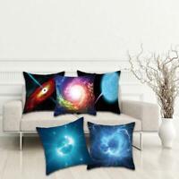 Black Hole Universe Galaxy Peach Skin Pillow Case Cover Sofa Cushion Cover New