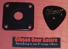 Gibson Les Paul Jack Plate Black Output Relic Input Guitar Parts Cream Cover R9