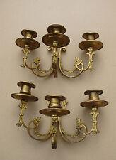 Superbe paire de bougeoirs de piano en bronze et laiton - Epoque Napoléon III