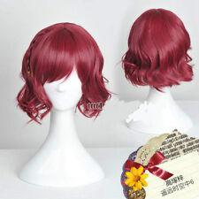 Harukanaru Toki no Naka De6 Beautiful Short Dark Red Cosplay Wig Hair