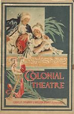"Oscar Straus ""CHOCOLATE SOLDIER"" Whitney Opera Company 1913 Boston Playbill"