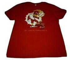"""St. Louis Cardinals """"The Heat Is On!"""" T-Shirt Men's XL Red Fredbird MLB Baseball"""