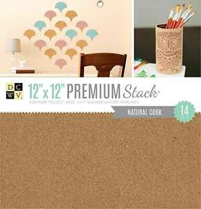 """DCWV Single-Sided Specialty Stack 12""""X12"""" 14/Pkg Natural Cork 611356262457"""
