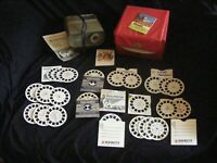 Vintage GAF Viewmaster Projector Set Lot w/ 21 Various Travel Scenic Place Reels