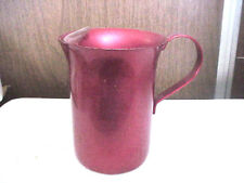 Red Aluminum Pitcher 7 Inches Tall 5 Inch Diameter