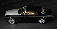 KYOSHO Diecast Rolls-Royce Phantom Coupe 1/18 Diamond Black Color