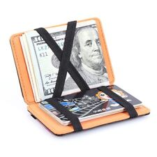 Magic Wallet Slim Leather Credit Card Case Ultrathin Money Clip Women Men Purse
