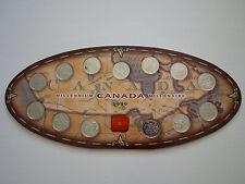 LOT OF 12 1999 Canada Millennium Quarter 13 Set RCM Uncirculated Mint