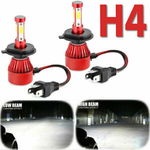 4-Side H4 9003 LED Headlight Bulbs Conversion Kit High Low Beam Replace Halogen