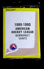NEWMARKET SAINTS 1989 PROCARDS AHL HOCKEY SEALED TEAM SET MAPLE LEAFS TIE DOMI