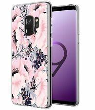 Samsung Galaxy S9 Clear Case Soft TPU Bumper Anti-Scratch Slim Antishock Flowers