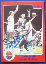 DON BUSE autograph signed Star Company 1983-84 Kansas City Kings