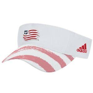 New England Revolution MLS Adidas Adjustable Visor Hat, White