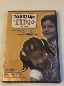 Team Up With Timo Stories PC Animated Tutor CDROM Launching Language Literacy