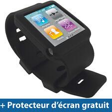 Noir Silicone Etui Bracelet pour Apple iPod Nano 6th Gen 6G Housse Coque Case