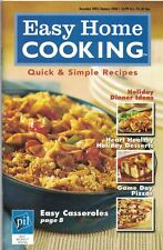 Easy Home Cooking QUICK & SIMPLE RECIPES #49 2006 Holiday Dinner Ideas