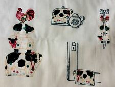 Fabric Stacking Animals 100% Cotton Sewing Material Panel Cow Sheep Chicken Pig