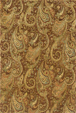 "5x8 Sphinx Wool Hand Knotted Brown Paisley 19102 Rug - Approx 5' 3"" x 8' 3"""