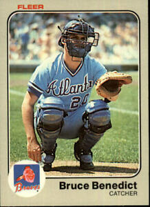 1983 Fleer Atlanta Braves Baseball Card #130 Bruce Benedict