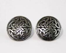 Very LARGE Statement Cufflinks, Celtic Interlaced Knot Design, Handmade (wa)