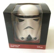 Star Wars 3D Character Ceramic Money Bank - Stormtrooper Helmet Disney New Boxed