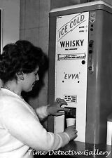 Vintage Ice Cold Whiskey Dispenser - 1950s - Vintage Photo Print