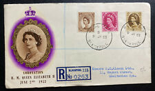1953 Blackpool England First Day Cover FDC Queen Elizabeth VI Coronation QE2