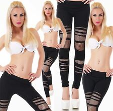 Women's Leggings Trousers Dance Pants Skinny Fit Ripped Net Leggings 8,10,12