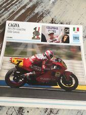 Cagiva 500 C591 GP Eddie Lawson 1991 Carte moto Collection Atlas Italie