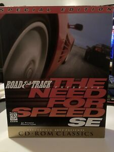 Vintage 1997 Road And Track The Need For Speed SE CD Rom Classics Big Box EUC