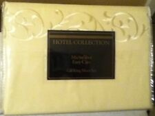 NIP  Hotel Collection Microfiber Ivory Color Cal King Sheet Set